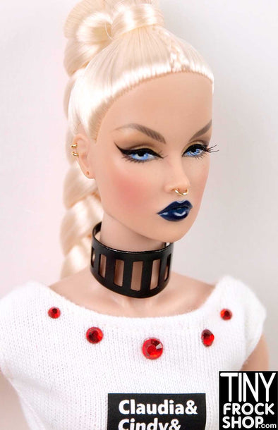 Barbie Black Powder Coat Metal Choker Necklace - More Styles - TinyFrockShop.com