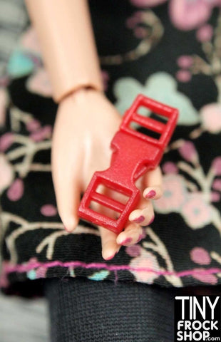 Barbie Doll Size Plastic TINY 2 Pin Working Snap Buckles PACK OF 2 - MORE COLORS!