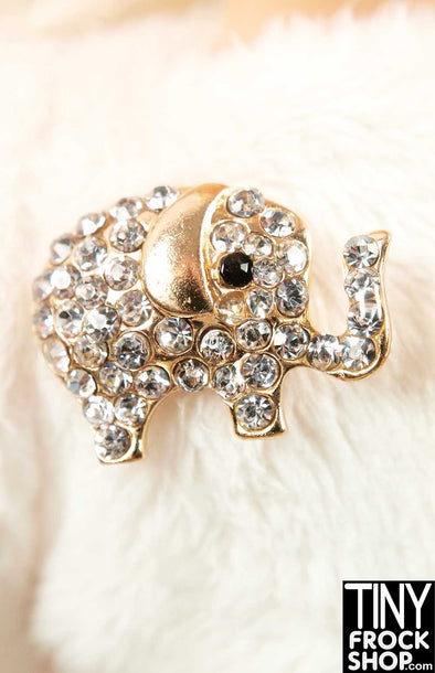 Barbie Elephant Mini Rhinestone Pin - TinyFrockShop.com