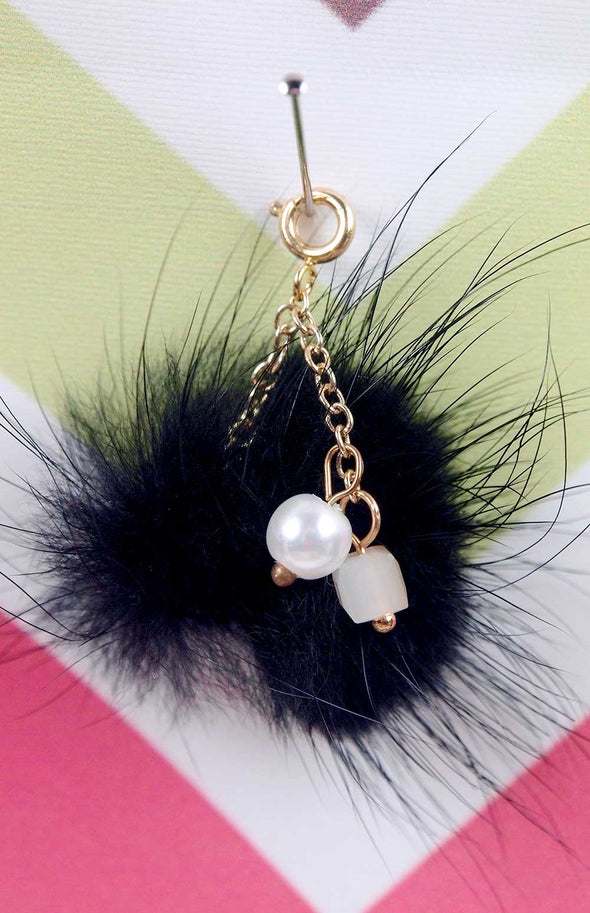 Barbie Luxe Mink Pom Pom Handbag Charm by Pam Maness for TFS - TinyFrockShop.com
