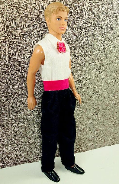 Ken Pink Bow Tie Jumpsuit Outfit