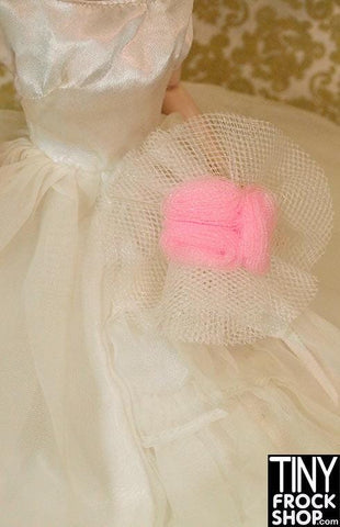 Barbie Pink Rose Tulle Bouquet