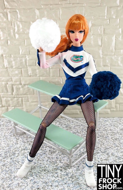 Barbie Pom Pom Girl Outfit With Bleachers Set