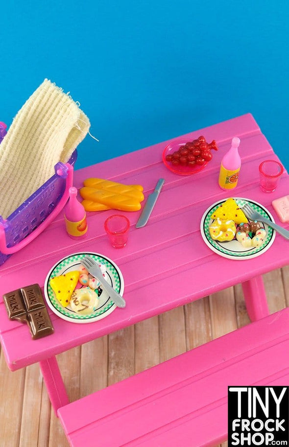 Barbie Purple Basket Picnic Set