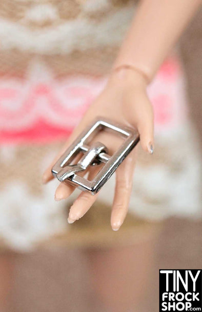 11mm - Barbie Mini Metal Rectangle Center Bar Buckle with Prong - More Colors - TinyFrockShop.com