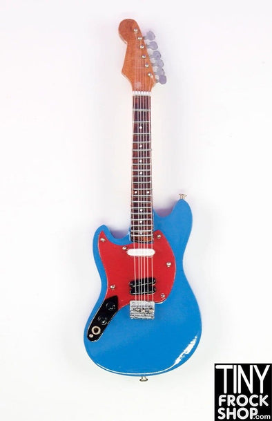 Barbie Wood Red and Blue Hand Crafted Guitar