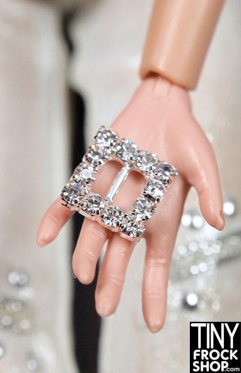 8mm - Barbie High Quality Metal Rhinestone Mini Buckle - Tiny Frock Shop