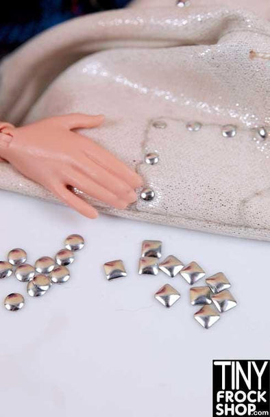 Barbie Sized 3mm - Mini Round Stamped Rivets - Pack of 50 - TinyFrockShop.com