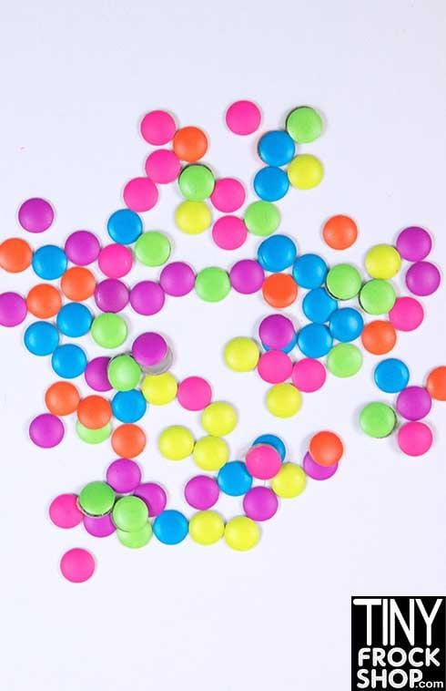 3MM - Barbie Mini Round Stamped Rivets - MORE COLORS! Pack of 50 - Tiny Frock Shop