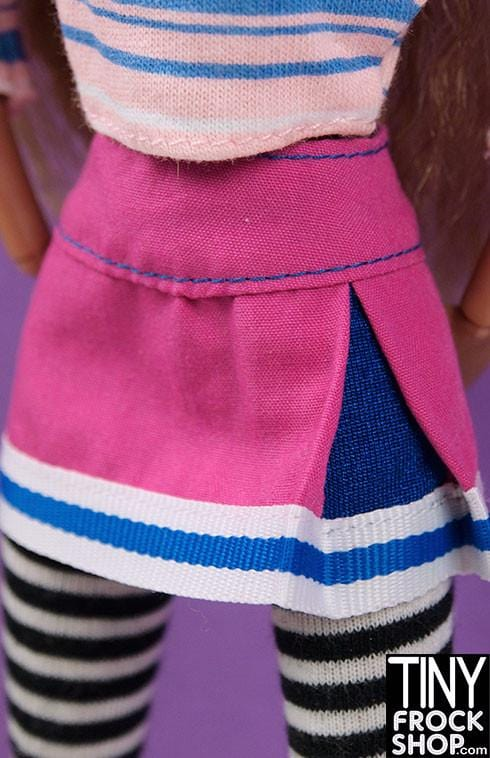 Barbie Side Inverted Skirt with Stripes