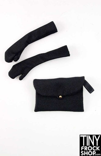 16 Inch Doll Sophisticated Glove And Clutch Handbag