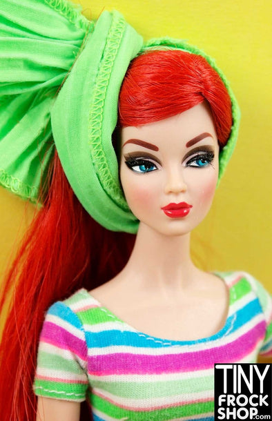 Barbie Spring Green Wired Pleated Scarf - TinyFrockShop.com