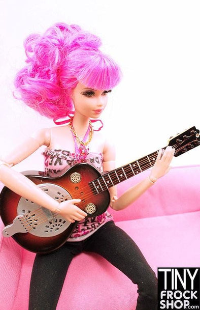 Barbie New Steel and Wood Guitar NN - TinyFrockShop.com