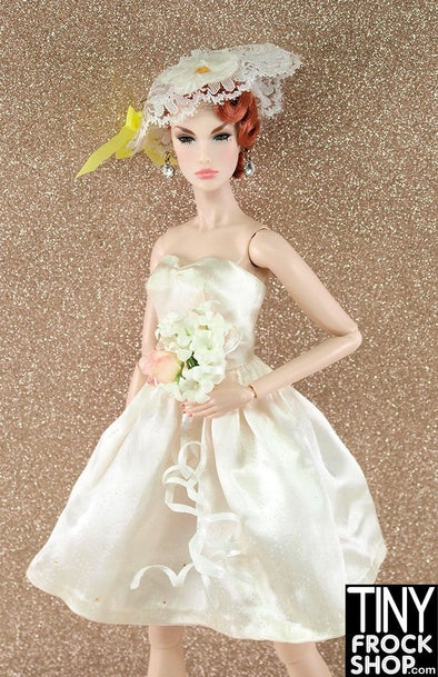 Barbie Vintage #958 Party Date Sweetheart Strapless Satin Dress with Lace Headpiece