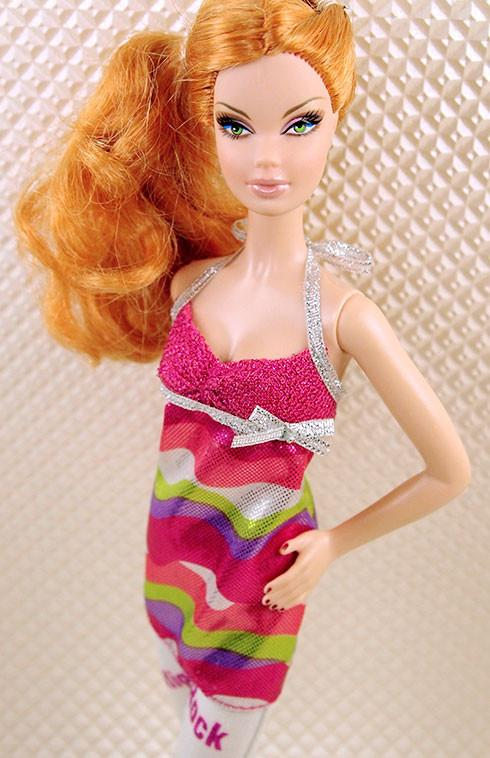 Barbie Swirly Shiny Print Tunic