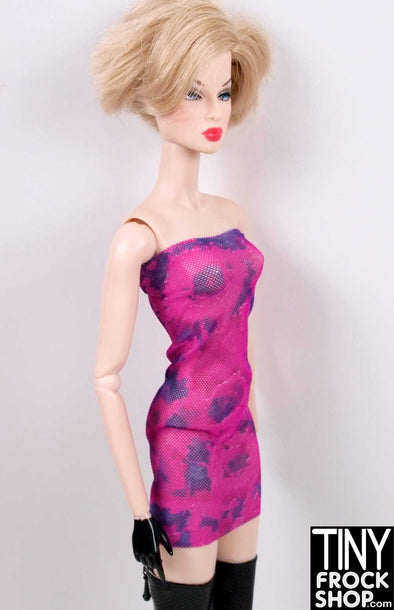 Barbie Tie Dyed Tulle Tube Dress
