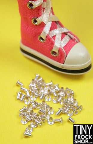 Barbie Mini Garment, Shoe and Handbag Eyelets - MORE COLORS -  Pack of 12.