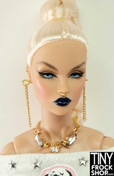 Barbie Triple Stone And Earring Set By Pam Maness. - TinyFrockShop.com
