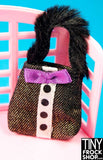 Barbie Tuxedo Bag with Fur Handle