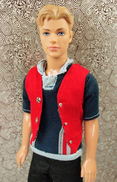 Ken Reversible Plaid #1411 Victory Dance Vest - Tiny Frock Shop