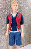 Ken Reversible Plaid #1411 Victory Dance Vest