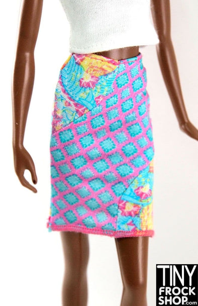 Barbie Wave Pierced Multi Graphic Skirt