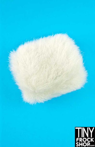 16 Inch Doll White Faux Fur Muff