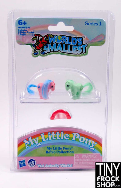 Barbie Worlds Smallest My Little Pony - Set of 2- More Colors