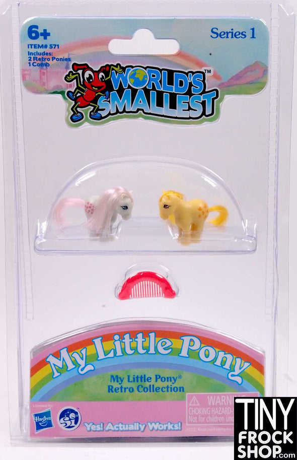 Barbie Worlds Smallest My Little Pony - Set of 2- More Colors - TinyFrockShop.com