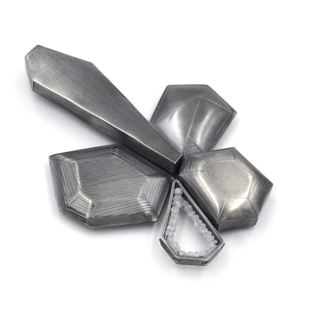 Hexagonal Study Brooch