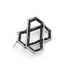 Layered Hexagon Brooch in Spinel