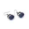 Climb Earrings (short) in Kyanite Discs