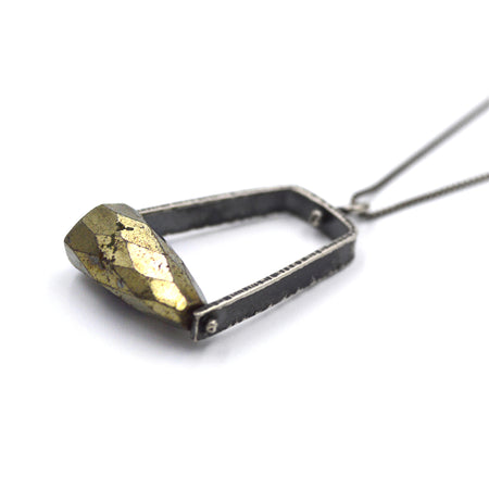 Climb Pendant (Long) in Pyrite