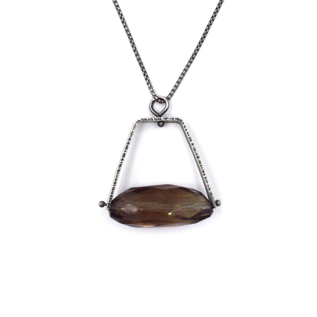 Long Climb Pendant in Smoky Topaz