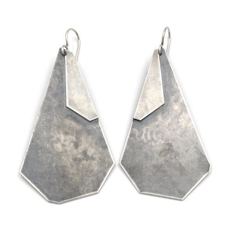 Large Poly Paddle Earrings