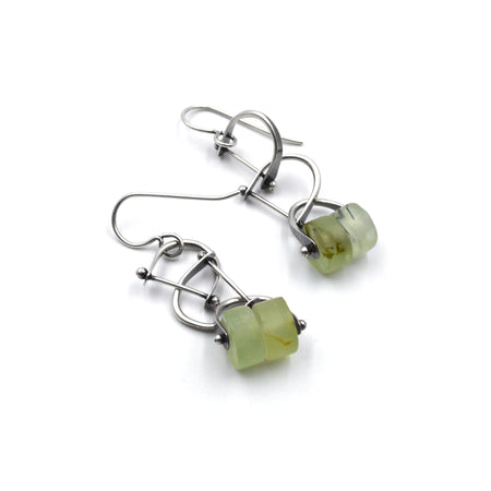 Bridle Earrings in Prehnite