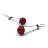 Forged Ball Earrings in Carnelian
