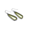 Triagonal Earrings (Medium) in Peridot
