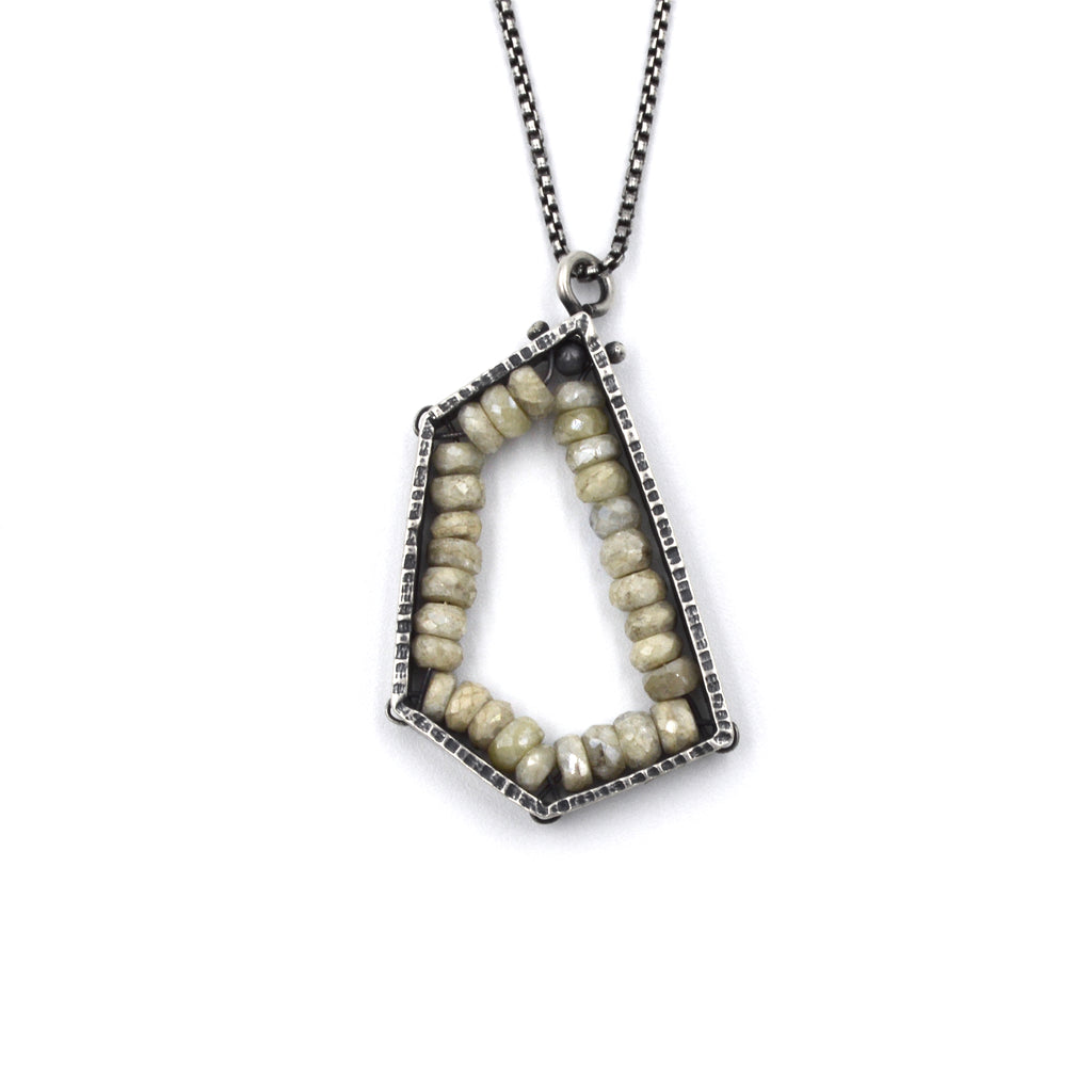 Pentagon Pendant (Medium) in White Sapphire