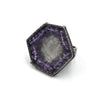 Hexagon Ring in Amethyst