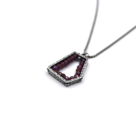 Pentagon Pendant (Small) in Garnet