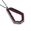 Hexagon Pendant (Large) in Ruby