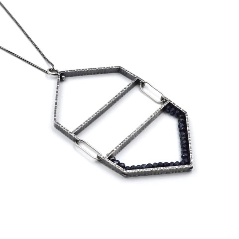 Hexagon Hinge Pendant in Spinel