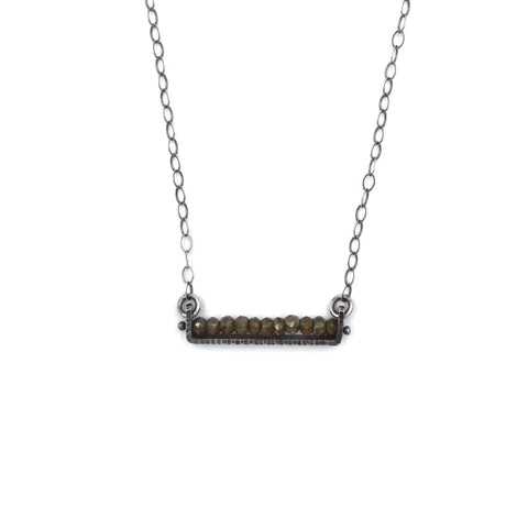 Linear Necklace (Short) in Smoky Topaz