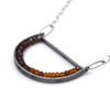 Oval Geode Necklace in Zircon and Garnet