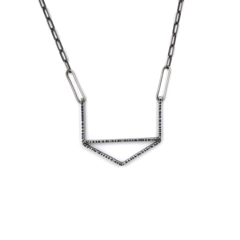 Open Top Hexagon Necklace