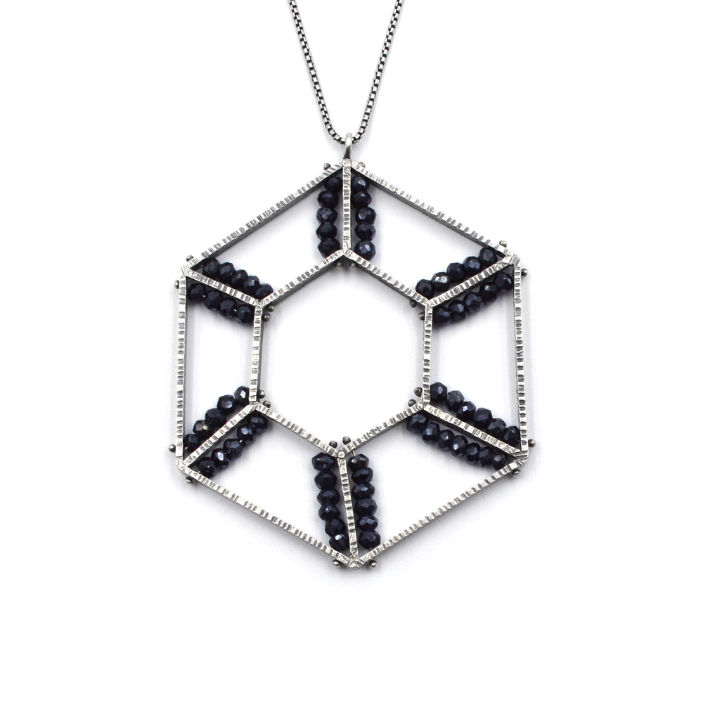 Double Hexagon Geode Necklace II