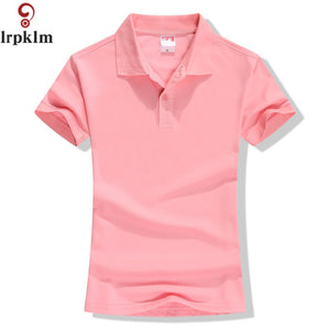 8331028d New 2018 Summer Brand Solid Polo Women Shirt Slim Short Sleeve camisa polo  shirt polo femme