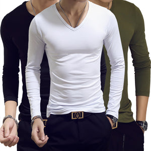 513264da571b40 Spring Autumn Period Long Sleeve Cultivate One s Morality Men s T-shirt  Sets O-neck