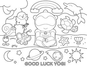 Free Good Luck Yogi Coloring Page